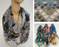Extra-Wide Light Weight Infinity Scarf [Victorian Floral]